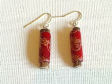 Wooden tube earrings